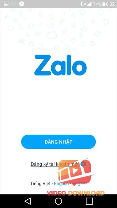 Hình 1: Đăng nhập Zalo