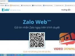 Hình 2: Quét mã QR đăng nhập Zalo