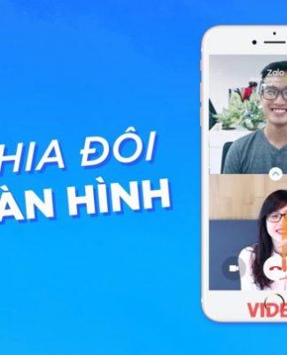 Tính năng chia đôi màn hình của Zalo video call