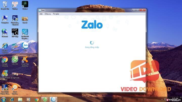 Hình 3: Đăng nhập Zalo trên máy tính