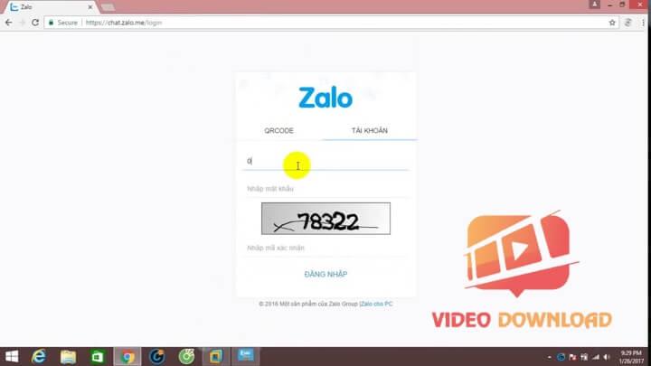 Hình 3: Lấy mã xác nhận Zalo