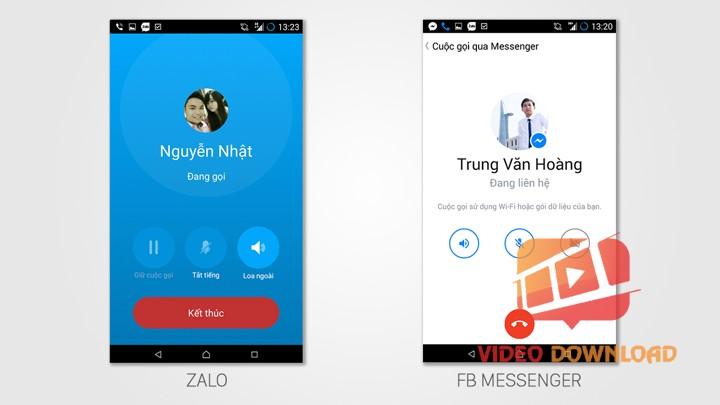 So sánh video call của Zalo và Messenger
