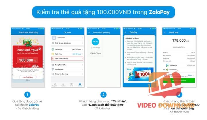 Hình 1: ZaloPay tặng 100k