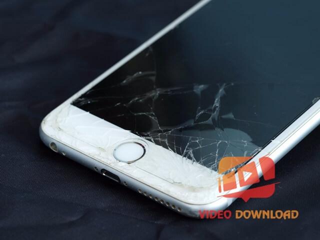 Hình 2: Điện thoại iPhone bị vỡ màn hình