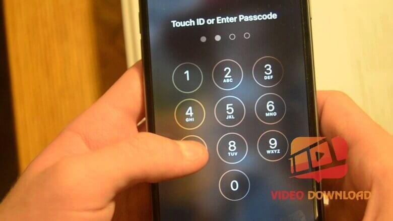 Hình 4: Đặt mã khóa màn hình iPhone