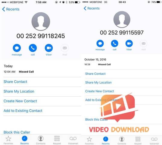 Hình 4: Số điện thoại lạ gây mất tiền oan