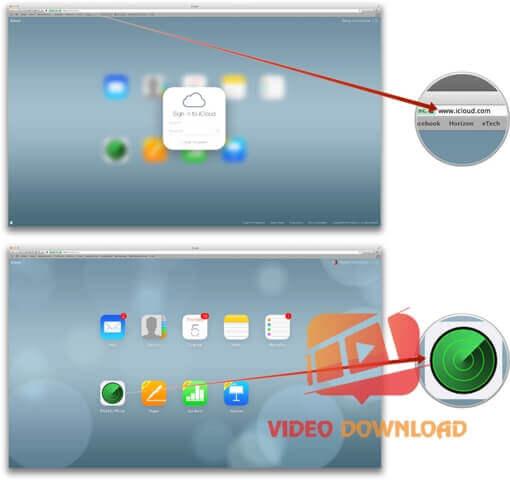 Hình 4: Tìm lại điện thoại iPhone trên PC