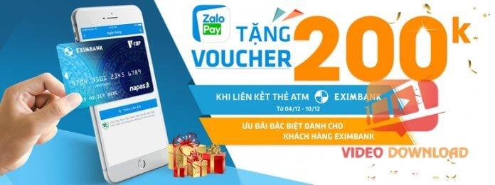 Hình 3: Ưu đãi khi liên kết ZaloPay với Eximbank