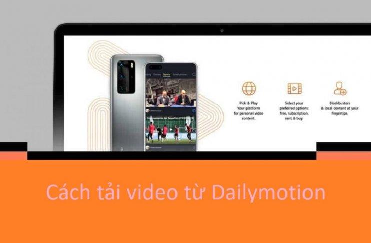Cách tải video từ Dailymotion