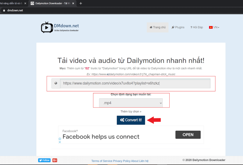 Download dailymotion with dmdown.net