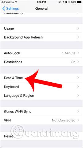 Chỉnh ngày trên iOS