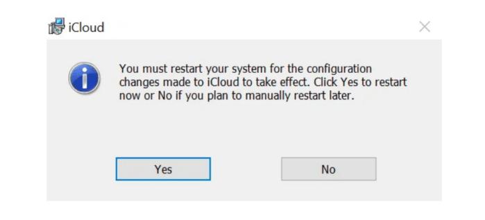 Cách thiết lập iCloud trên Windows PC