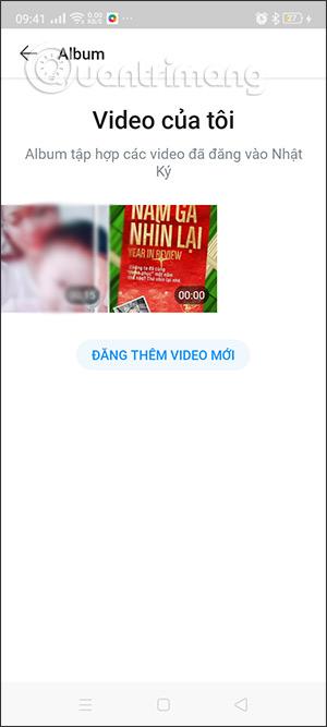 Video đã đăng lên
