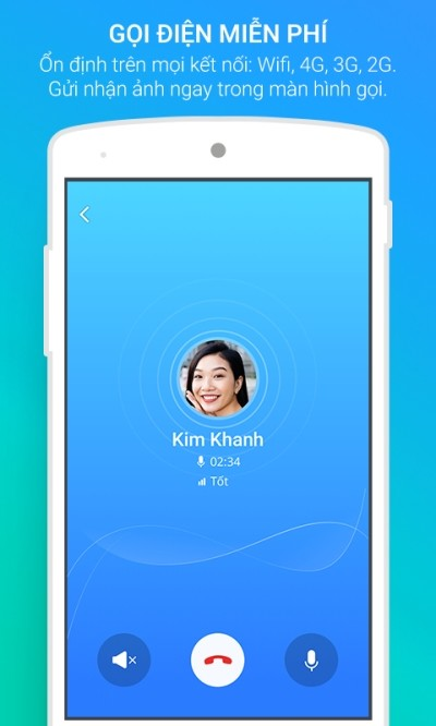 Gọi điện miễn phí không giới hạn với Zalo cho Android