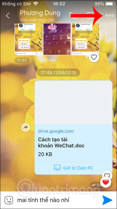 Tùy chọn tin nhắn